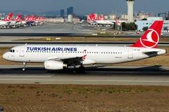 TC-JUI Turkish Airlines, Airbus A320-200 nomeado KADIRLI Fotos de Stock
