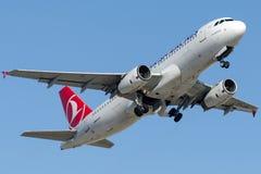 TC-JUK Turkish Airlines, Airbus A320-232 named PALANDOKEN Stock Photos