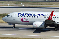 Tc-JVD Turkish Airlines Boeing 737-8F2 Royalty-vrije Stock Afbeelding