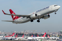 TC-JVF Turkish Airlines, Boeing 737-8F2 named PENDIK Royalty Free Stock Photography