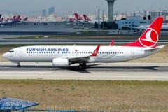 TC-JVP Turkish Airlines , Boeing 737-8F2 named ESENYURT Royalty Free Stock Photo