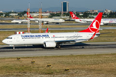 TC-JVR Turkish Airlines , Boeing 737-8F2 named KAGITHANE Royalty Free Stock Images