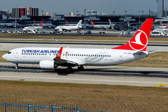 TC-JVV Turkish Airlines , Boeing 737-8F2 Stock Photos
