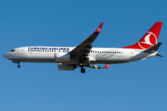 TC-JVZ Turkish Airlines, Boeing 737-800 BESTEPE appelés Photo libre de droits