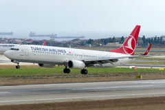 TC-JYC Turkish Airlines Боинг 737-9F2ER EREGLI Стоковая Фотография
