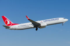 TC-JYC Turkish Airlines Боинг 737-9F2 EREGLI Стоковые Изображения