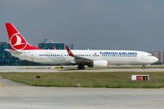 TC-JYD土耳其航空波音737-9F2巴伊布尔特 库存照片