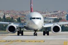TC-JYD Turkish Airlines Boeing 737-9F2 ΠΑΪΠΟΎΡΤ Στοκ Φωτογραφίες