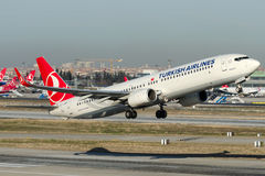 TC-JYD Turkish Airlines , Boeing 737-9F2 named BAYBURT Royalty Free Stock Photography