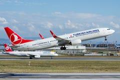 TC-JYE Turkish Airlines Боинг 737-9F2 TUZGOLU Стоковые Фото