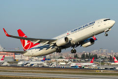 TC-JYG Turkish Airlines, Boeing 737-9F2 Imagens de Stock Royalty Free