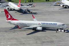 TC-JYH Turkish Airlines Боинг 737-9F2ER Стоковые Изображения