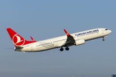 TC-JYH Turkish Airlines Boeing 737-9F2ER Imagenes de archivo