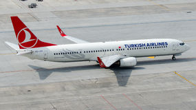 TC-JYI Turkish Airlines, Boeing 737-9F2 named MANISA Royalty Free Stock Images