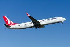 TC-JYJ Turkish Airlines Боинг 737-9F2ER EMIRDAG Стоковое Фото