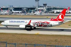 TC-JYP Turkish Airlines, Boeing 737-9F2 που ονομάζεται CATALCA στοκ εικόνες με δικαίωμα ελεύθερης χρήσης