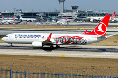 TC-JYP Turkish Airlines , Boeing 737-9F2 named CATALCA Royalty Free Stock Images