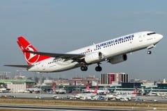 TC-JZF Turkish Airlines, Boeing 737-800 namngav SAFRANBOLU Arkivfoto