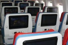 TC-LJA土耳其航空波音777-300ER经济舱位子 免版税图库摄影