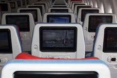 TC-LJA土耳其航空波音777-300ER经济舱位子 免版税库存照片