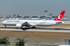 TC-LJA Turkish Airlines, Boeing 777-3F2/ER royalty free stock photo
