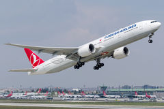 TC-LJJ Turkish Airlines , Boeing 777 - 300 stock image