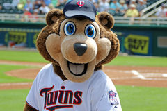 TC - A mascote dos Minnesota Twins Foto de Stock Royalty Free