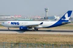 TC-MCZ MNG Airlines ładunek, Aerobus A330-243F Zdjęcia Royalty Free