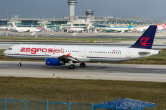 TC-OBJ Zagrosjet, Airbus A321-231 Imagens de Stock Royalty Free