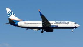 TC-SNR SunExpress, Boeing 737-800 royalty free stock photos