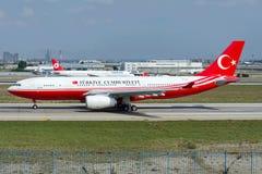 TC-TUR Turecki Rządowy Aerobus A330-243 Zdjęcie Royalty Free