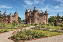 TCastle De Haar located in Haarzuilens, The Netherlands. Stock Photo