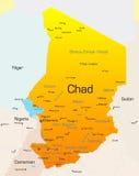 Tchad royaltyfri illustrationer