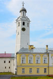 Tchasozvonya. Veliky Novgorod, the Body of vicars and clock tower in the citadel Stock Image
