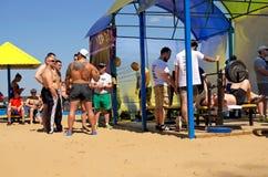 Tcheboksary, Russie - 16 juillet 2016 : ouvrez le tournoi sur le banc Photo stock