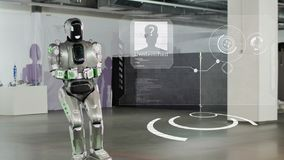 Tcheboksary, Russie - 26 septembre 2017 : Ville des robots Robot-Android avance HUD