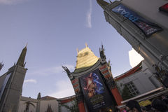 TCL Chinese Theatre. Is a cinema palace on the historic Hollywood Walk of Fame at 6925 Hollywood Boulevard in Hollywood, California, United States royalty free stock photo