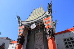 TCL Chinese Theatre. LOS ANGELES, USA - APRIL 5, 2014: TCL Chinese Theatre in Hollywood. Formerly Grauman's Chinese Theatre, the famous landmark dates back to royalty free stock image