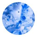 Técnica de la sal del lavado de la acuarela del círculo Fotografía de archivo libre de regalías