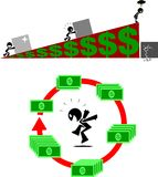 TCO & ROI royalty-vrije illustratie