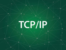 Tcp ip网络-传输控制协议互联网协议是规则组治理通信的协议 免版税库存照片