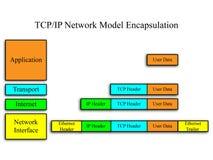 TCP/IP het Model van het netwerk Stock Foto