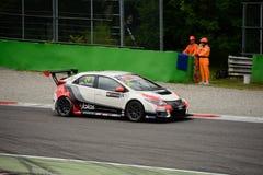 TCR International Series Honda Civic at Monza 2015 Royalty Free Stock Images