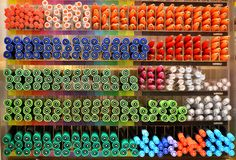 Tęcza Barwi pióra tło Obrazy Stock