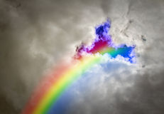 Tęczy burzy niebo Zdjęcie Royalty Free