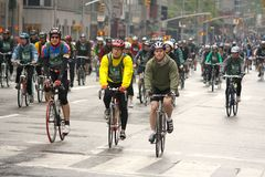 TD Bank Five Boro Bike Tour 2009 NY Royalty Free Stock Images