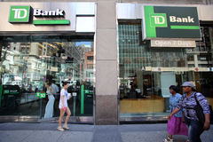 TD BANK IN NEW YORK Royalty Free Stock Photos