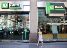 TD BANK IN NEW YORK Stock Photo