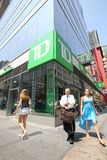 TD BANK IN NEW YORK Royalty Free Stock Images