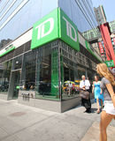 TD BANK IN NEW YORK Stock Photography